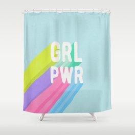 GRL PWR x Blue Shower Curtain