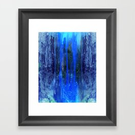 The Sun Is Dripping Down Framed Art Print