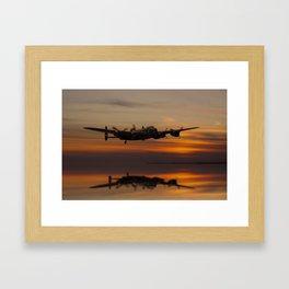 Lancaster Bomber Landfall Framed Art Print