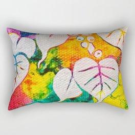 Leaves on the World Tree: Bihari Peepal Rectangular Pillow