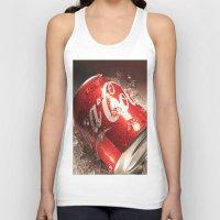coca cola Tank Tops featuring Coca Cola by MarianaManina