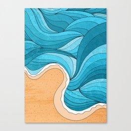 Beach Tide Canvas Print