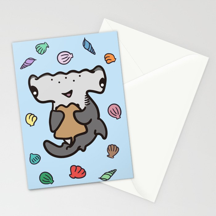 Hammerhead Sharks Stationery Cards
