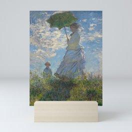 The Walk, Woman with a Parasol by Claude Monet Mini Art Print