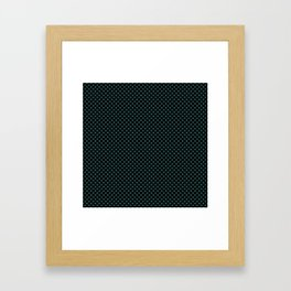 Black and June Bug Polka Dots Framed Art Print