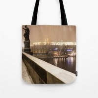 prague Tote Bags featuring Prague 7 by Veronika