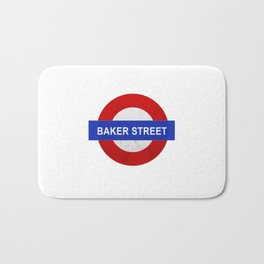Sherlock Baker Street Print Bath Mat