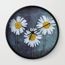 Marguerites Wall Clock