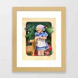Gnome Forest Friends Framed Art Print