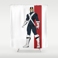 cyclops Shower Curtains featuring Cyclops by Andrew Formosa