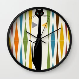 Mid-Century Modern Art Cat 2 Wall Clock