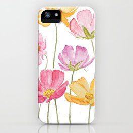 colorful cosmos flower iPhone Case
