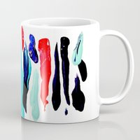 the strokes Mugs featuring Paint Strokes by Allison Kiloh