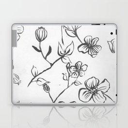 Black and White blooms Laptop & iPad Skin