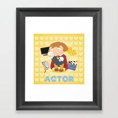 Actor Framed Art Print