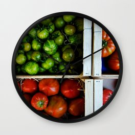 Colorful tomatoes Wall Clock