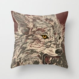 Enraged Throw Pillow