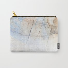 Cotton Latte Marble - Ombre blue and ivory Carry-All Pouch