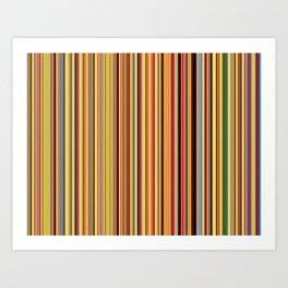 Old Skool Stripes - Bold Art Print