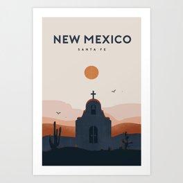 New Mexico travel poster Art Print