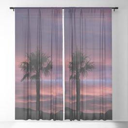 Palm Sunset - 8 Sheer Curtain