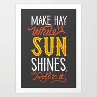 sunshine Art Prints featuring Sunshine by Wharton