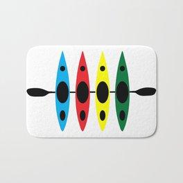 Four Kayaks | DopeyArt Bath Mat
