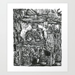 Inktober 2018: Expensive Art Print
