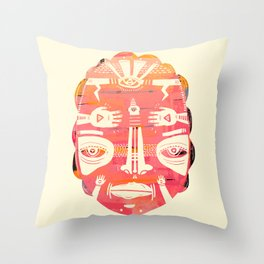 Cloud Face I Throw Pillow