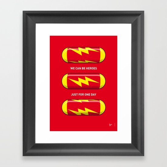 My SUPERHERO PILLS - The Flash Framed Art Print