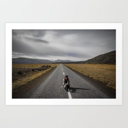 Alone on the Road Art Print