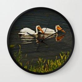 Pelicans in Edmonton - Hermitage Wall Clock