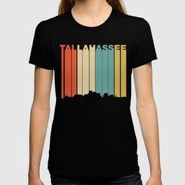 Retro 1970's Style Tallahassee Florida Skyline T-shirt