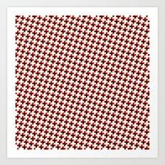 So cross… red! Art Print