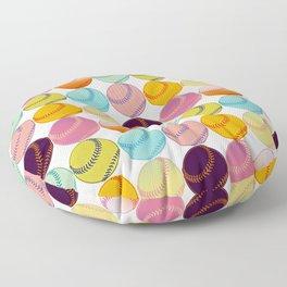 Pop Art Baseballs Floor Pillow