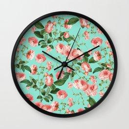 Rosy Life #society6 #decor #buyart Wall Clock