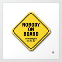 Nobody On Board Art Print