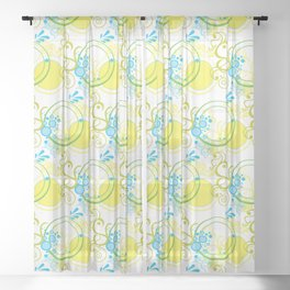 Swirls & Circles Sheer Curtain