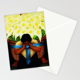 El Vendedor de Alcatraces (the Bringing of the Calla Lilies to Market) by Diego Rivera Stationery Cards
