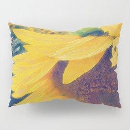 sunflower and little bee Pillow Sham