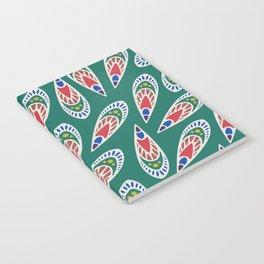 Green African Pattern Notebook