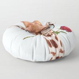 GIRAFFE ROMANCE Floor Pillow