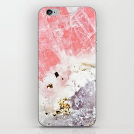 GOLD FLECKED ROSE QUARTZ iPhone Skin