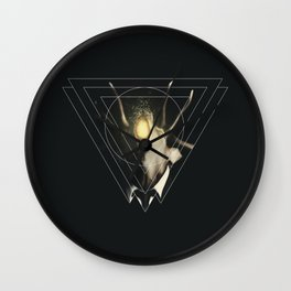 Deer Triangle  Wall Clock
