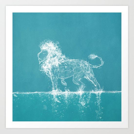 The Water Lion Art Print