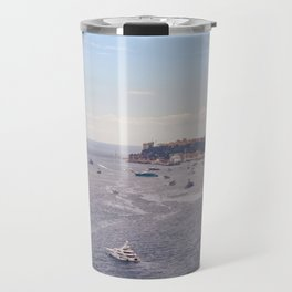 Seacoast in front of Monaco in French Riviera in summer Travel Mug