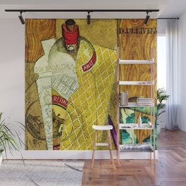 Still Life With Bottle of Anis Aperitif and Inkwell by Diego Rivera Wall Mural