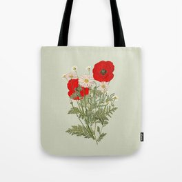 A country garden flower bouquet -poppies and daisies Tote Bag