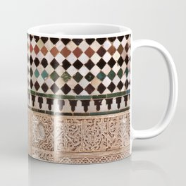 Details in The Alhambra Palace. Gold courtyard Coffee Mug