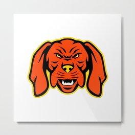 Hungarian Vizsla Dog Mascot Angry Metal Print